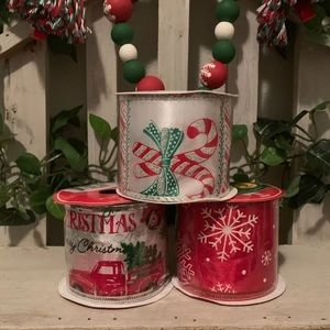 Christmas wired ribbon bundle set